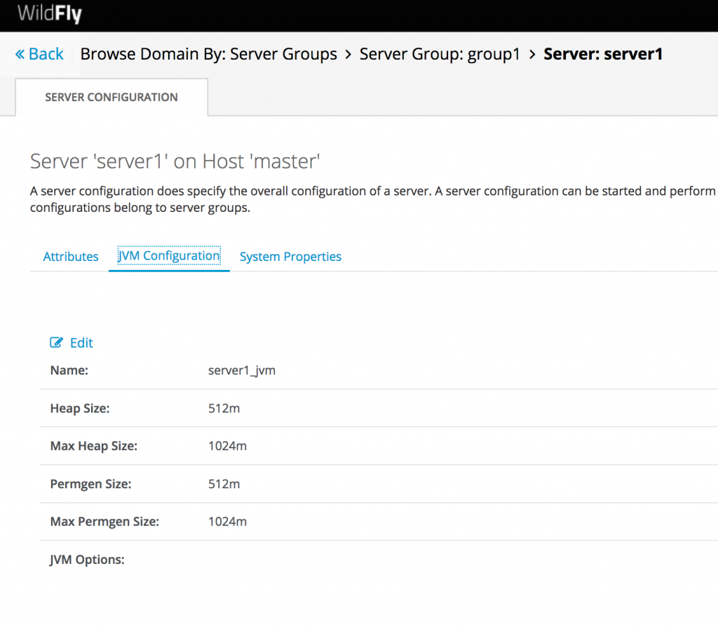 Wildfly Web Console