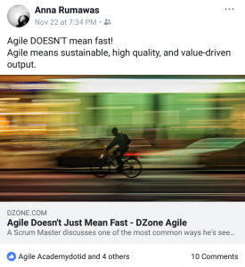 agile doesn't mean fast